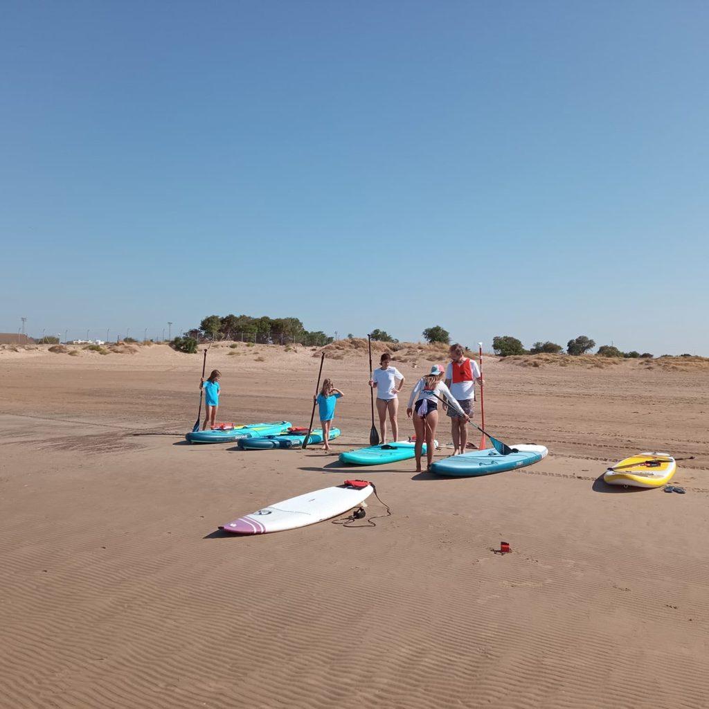 Curso de paddle surf en familia